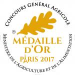 Médaille Or 2017 au Concours Général Agricole